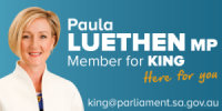 Paula Luethen MP Member for King
